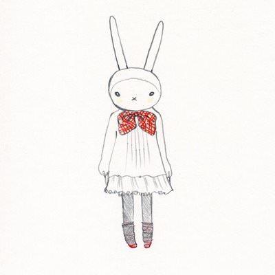 нарисованные кролики картинки