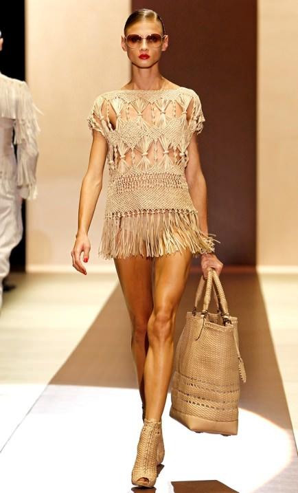 Модные тренды весна-лето 2011 - макраме, вязание и плетение.