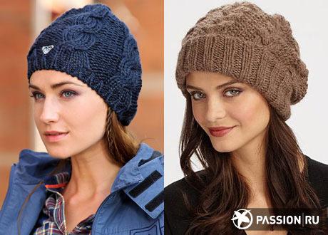 Модные шапки осень-зима 2014-2015 связать