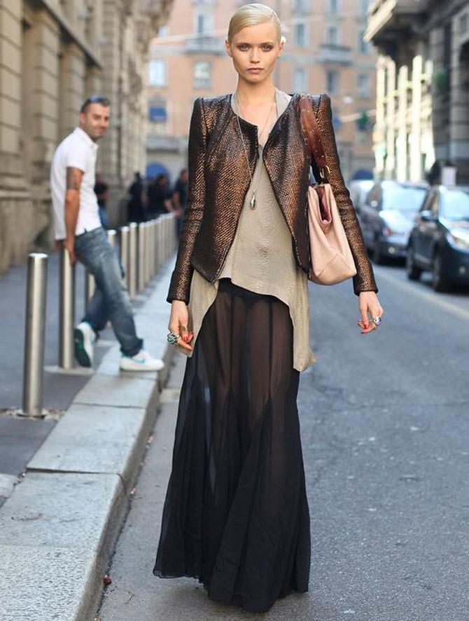 Сложная длинная юбка