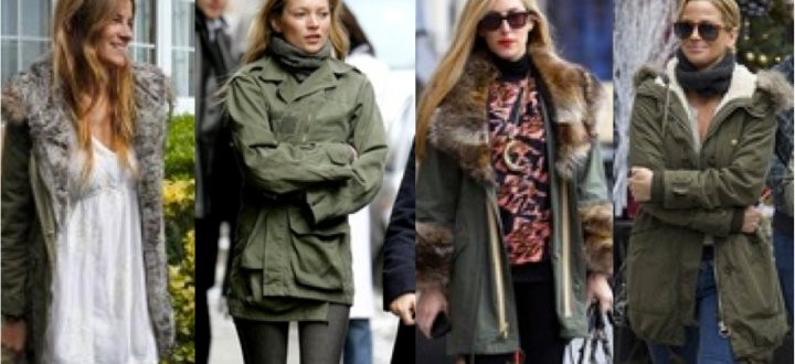Collage military parka street style